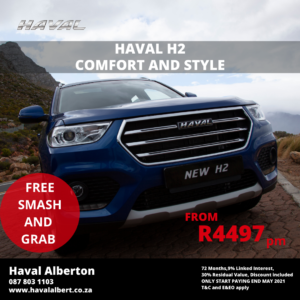 COMFORT AND STYLE -Haval H2