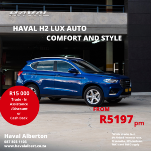 COMFORT AND STYLE -Haval H2 LUX