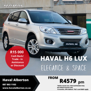 Haval H6 LUX  - Elegance and Space